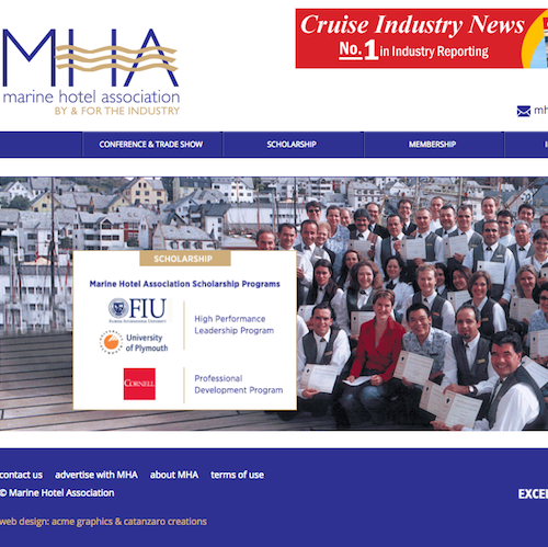 marine hotel association web site for catanzaro creations